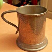 Vintage Craftsman Sheffield Hammered Pewter Half-Pint Tankard  VGC