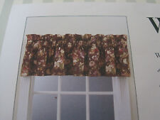 "WAVERLY CURTAIN VALANCE BALLOON  MARIETTA  PURPLE, ROSES FLOWERS 79"" x14"" NIP"