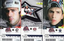 2001 - 2002 - 2ND YEAR FULL TICKET - COLUMBUS BLUE JACKETS - PICK ONE