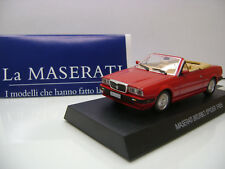LaMaserati Maserati BiTurbo Spyder 1985 1:43 in Red mint on Display no Box