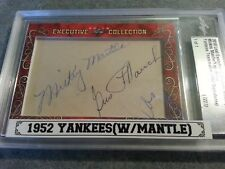 2018 Leaf Executive 1952 YANKEES MICKEY MANTLE BERRA MIZE MAUCH CUT AUTO 1 OF 1