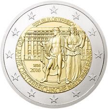 AUSTRIA 2 EUROS 2016 - CONM. 200 AÑOS DEL BANCO NACIONAL