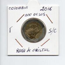 Moneda De Colombia 500 Pesos 2016 Rana de Cristal  sin circular Ref. M253