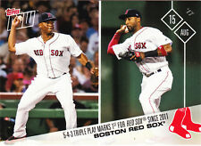 Rafael Devers Eduaro Nunez Mitch Moreland Red Sox Triple Play 2017 Topps NOW 483