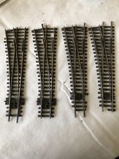 Hornby OO Gauge Left Hand Peco Points Track - Price For All 4