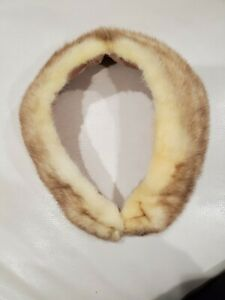Vintage Real Fur Wrap Collar Scarf Women's (H)