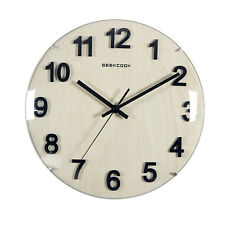 Modern Large London Clock Kitchen Company Wood Wall Clock 30cm Pointer Silent