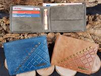 Herren Geldbörse Leder RFID Schutz Geldbeutel  Geschenkbox Klein Praktisch Reise