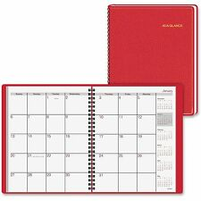 """At-A-Glance Monthly Planner 12 Mths Jan-Dec 2PPM 6-7/8""""x8-3/4"""" Red 7012413"""