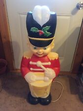 VINTAGE SOLDIER DRUMMER 34 INCHES BLOW MOLD HOLIDAY CHRISTMAS YARD DECOR