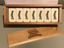 GTA Limited San Andreas Grand Theft Auto RARE Domino Dominoes Set Wood Box