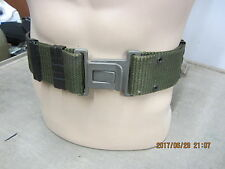 US ARMY Military SURPLUS Equipment Pistol Web Belt Green Gray Buckle LARGE PRIMO