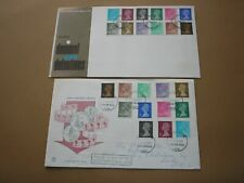 1971 GB Stamps MACHIN DEFINITIVES NO STRIKE First Day Covers WINDSOR FDI Cancels