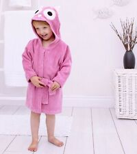 Bathing Bunnies Hooded Owl Bath Robe Cotton for 1-3 Year Old