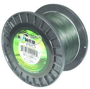 Power Pro 21100301500E Spectra Braided Fishing Line 30  lb. 1500 Yards Moss