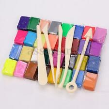 5 Tools+32 Colors Polymer Clay Block Modelling Moulding Sculpey Multi DIY Toys