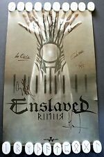 ENSLAVED Signed RIITIIR Poster 11x17 Norwegian Metal Nuclear Blast