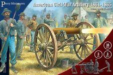 Perry Miniatures: American Civil War Artillery - 28mm 3 guns 3 limbers 18 figure