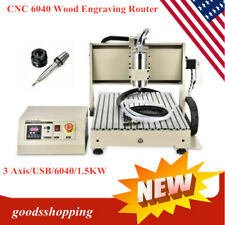 Usb 3 Axis Cnc 6040 Wood Engraving Router Carving Milling Cutting Machine 15kw