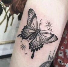 Blue Yellow Butterfly Butterflies Flowers Tattoos Temporary Stickers Body Art