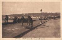 EARLY 1900's VINTAGE NAPOLI - VIA CARACCIOLO - SCENA di PESCA FISHING POSTCARD