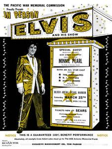 Elvis Presley - Concert poster reprint Bloch Arena Hawaii 1961
