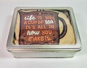 Tee in a Tin Premium Gift Set.Tea Themed Motivational Unique Gift.Tea Gift