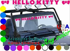 Hello Kitty Hot PINK windshield shade girl sticker tint window car bumper USA