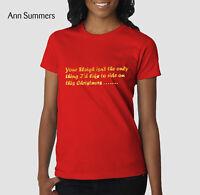 Ann Summers Womens Ladies Sexy Christmas Top Short Xmas T-Shirt Size 10 14 18 20