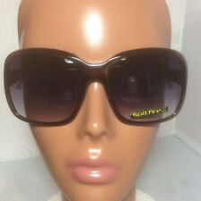 New Spitfire Brown Square Dutchess Sunglasses With Pouch