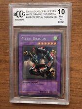Yugioh Blue Eye White Dragon LOB 102 Metal Dragon  Mint or Better !st Edition