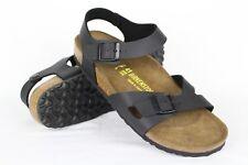 acab1b43d2e New Birkenstock Women s Rio Ankle Strap Sandals 42 11 Narrow Birko Flor  Black