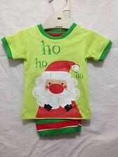 BNWT Baby Boys 000 Cute Target Lime Santa Print Christmas Summer Pyjamas Set