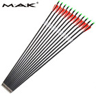 """New 30"""" 12Pcs 7.8mm SP500 Carbon Arrows Hunting Archery For Compound Recurve Bow"""
