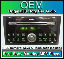 Ford Mondeo Sony CD player, Ford car stereo radio, AUX Compatible + Code & Keys