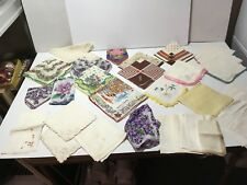 VTG Hankie MIXED Lot USE Floral LACE EDGE LINEN HANDKERCHIEFS CRAFT CUTTERS