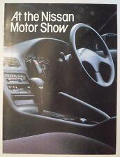 NISSAN 200SX & PRAIRIE orig 1989 UK Mkt Preview Sales Brochure