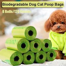 8Rolls Biodegradable Dog Poo Pet Cat Bag Poop Pick Up Garbage Bags