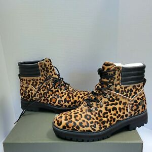 New in Box Timberland London Square Hiker Leopard Boots - Size 8.5