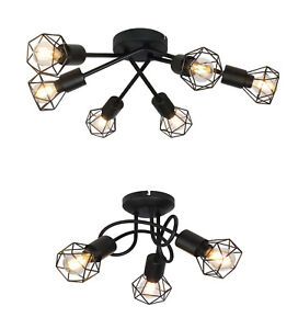Decorative Cage Ceiling Spotlight Kitchen Bedroom Retro Shade 3 or 6 lights