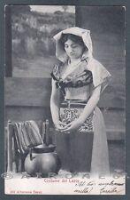 LAZIO COSTUME 01 Cartolina viaggiata 1903 Edizione ALTEROCCA