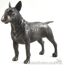 Cold Cast Bronze Bull Terrier lover gift sculpture ornament figurine statue