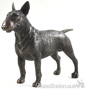 Cold Cast Bronze English Bull Terrier lover gift sculpture ornament figurine