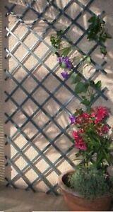GREY Expanding 6ft Wooden Trellis Garden Scissor Plant Fence Panel