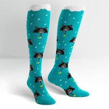 Sock It To Me Women's Funky Knee High Socks - 50% Chance of Cats