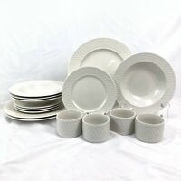 15 PIECE SET ONEIDA WESTERLY BASKET DINNERWARE DINNER SALAD PLATE SOUP BOWL CUP