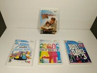 *Nintendo Wii* Video Games Lot of (4)Sing it, Udraw, Just Dance 3 & Story Hour