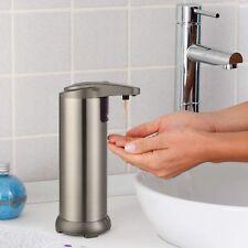 New Liquid Soap Dispenser Sensor Automatic Kitchen Bathroom Stainless Steel