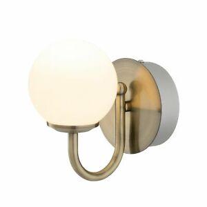 Verve Design Victoria Brass Finish Bathroom 6W LED Wall Light IP44