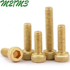M2 M3 Metric Brass Hexagon Socket Head Cap Screws Allen Hex Bolts Machine Screws